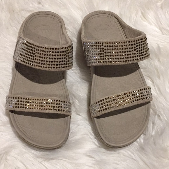 51bea3aa99ba38 Fitflop Shoes - Fitflop bling rhinestone workout sandals sz 7